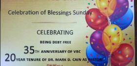 C.O.B.S. Celebration of Blessings Sunday June 18 2017